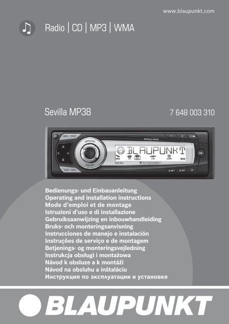 Radio CD MP3 WMA Sevilla MP38 - Blaupunkt