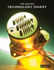 TECHNOLOGY DIGEST - Draper Laboratory