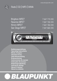 Radio CD MP3 WMA Brighton MP27 Ravenna MP27 ... - Elite Caravan