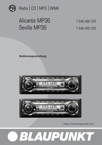 Alicante MP36 Sevilla MP36 - Blaupunkt
