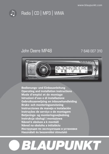 Radio CD MP3 WMA John Deere MP48 - Blaupunkt