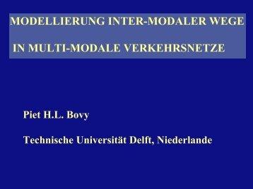 Verhaltensmodellierung in multimodalen Netzen - IVT