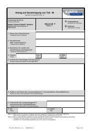 Antrag auf Genehmigung von Teil - M - Austro Control