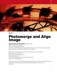Photomerge and Align Image - Adobe Photoshop for Photographers