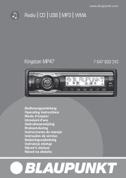 Radio CD USB MP3 WMA Kingston MP47 - Blaupunkt