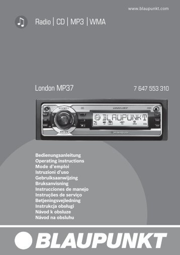 Radio CD MP3 WMA London MP37 - Blaupunkt