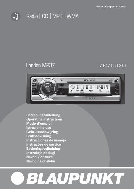 Radio CD MP3 WMA London MP37 - Blaupunkt