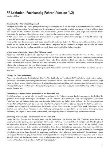 FF-Leitfaden im PDF-Format zum Download - Lars Köllner