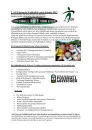 Sommer-Ferienschule 2012 - SG Eintracht Mendig/Bell