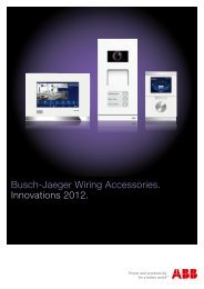 Busch-Jaeger Wiring Accessories. Innovations 2012.