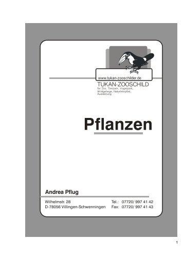 Pflanzen - TUKAN-Zooschilder