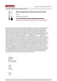Burton Andy Warhol Custom Snowboard 07/08 - SHAKAshop.ch
