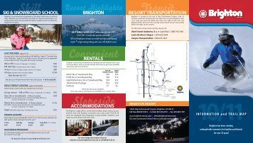 INFORMATION and TRAIL MAP - Brighton