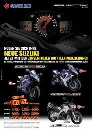 jetzt lohnt es sich umzusteigen! mehr motorrad - Suzuki