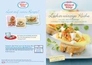 Leicht-Würzige Küche mit Miracel Whip, Kraft Food - Umstellung