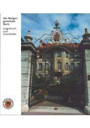 Die Burgergemeinde Bern - Burgerbibliothek Bern