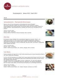 Kochkurse und Kreative Küche Kursprogramm Januar ... - EvaFood