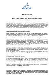 Press Release - Accor