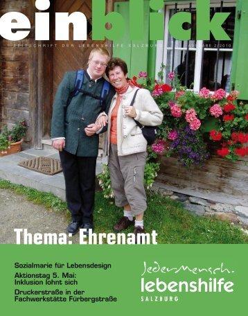 Thema: Ehrenamt - Lebenshilfe Salzburg