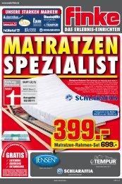 Matratze TF6 699. - Finke