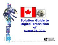 Canada Digital Transition - Blonder Tongue Laboratories Inc.