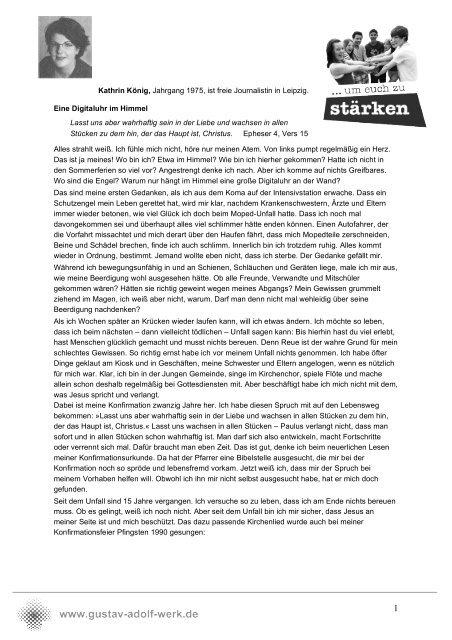 Mein Konfispruch König PDF - Gustav-Adolf-Werk eV