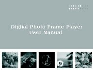 Digital Photo Frame Player User Manual