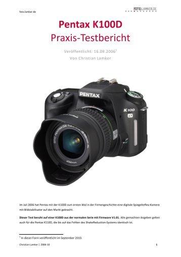 Pentax K100D Praxis-Testbericht - foto.lamker.de - Christian Lamker