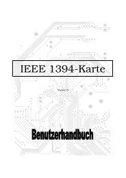 1394 (FireWire) Benutzerhandbuch 1.0 Was ist IEEE 1394