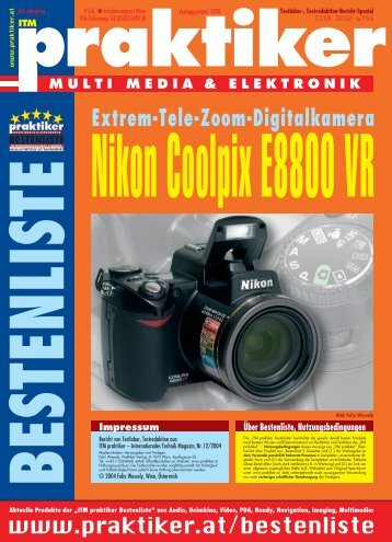 Nikon Coolpix E8800 VR: Extrem-Tele-Zoom-Digitalkamera - ITM ...
