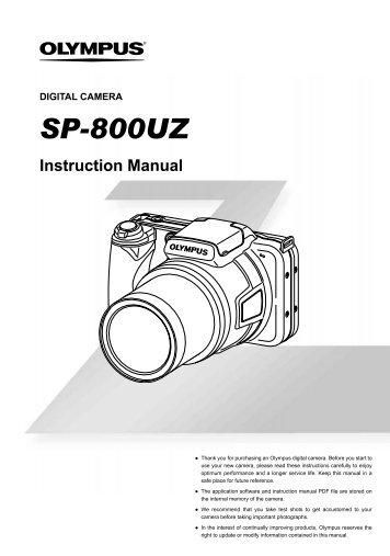 SP-800UZ Instruction Manual EN - Olympus America