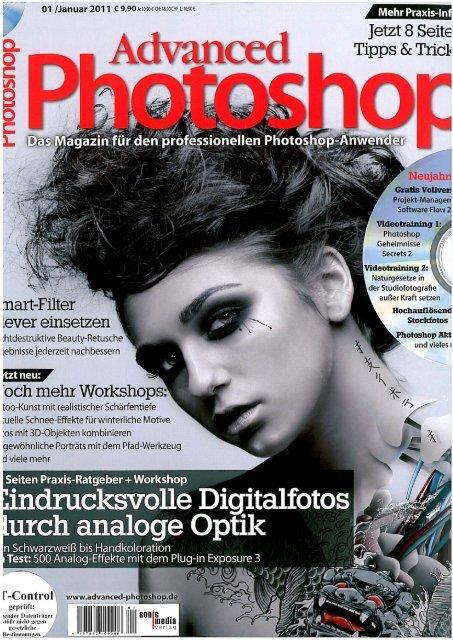 Bericht in der Advanced Photoshop Ausgabe, Januar 2011