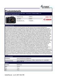 CANON Powershot S3 IS LCD Display 2Zoll dreh ... - Jacob Elektronik