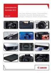 Download Preisliste - Produktbeschreibung/Kompatibilität ... - Canon