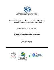 rapport national tunisie - unido