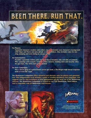 Shadowrun Companion: Revised for Third Edition