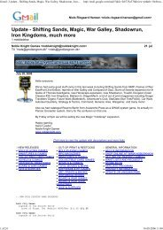 Gmail - Update - Shifting Sands, Magic, War Galley ... - Gnollengrom