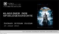 Batman Arkham Asylum - Medienwissenschaft Universität Bayreuth