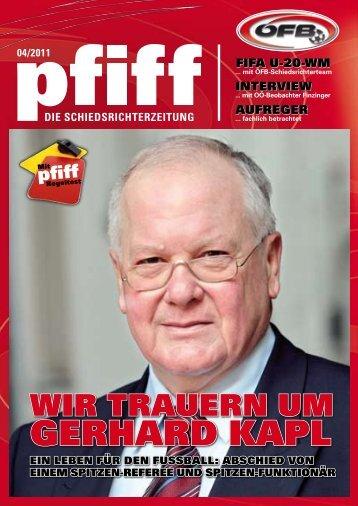 PFIFF Ausgabe Nr. 4 - 2011 - Schiri.at