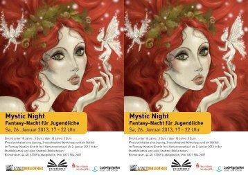 Programm der Mystic Night - Ludwigshafen