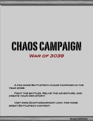 Chaos Campaign – War of 3039 - ScrapYard Armory