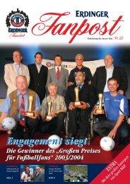 """Die Gewinner des """"Großen Preises für Fußballfans"""" 2003 ... - Erdinger"""