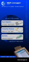Hos t-Adap ters - M&R Lawugger GmbH Graz / Austria - IEEE 802.15.4