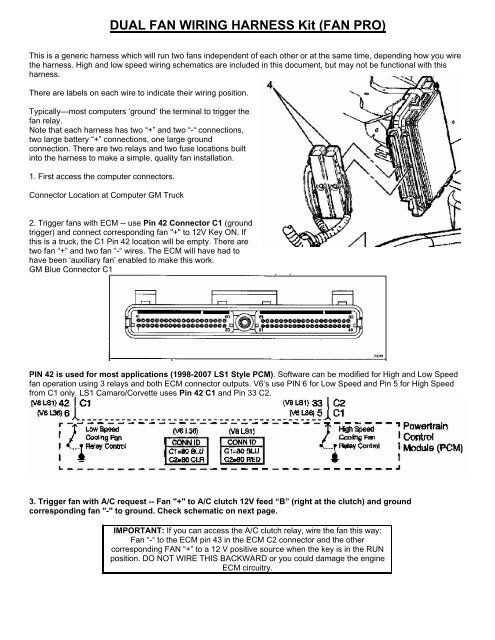 Gm Fan Wiring - All Diagram Schematics Fan Wiring Diagram For Garage on