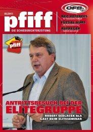 die schiedsrichterzeitung 05/2011 - Schiri.at