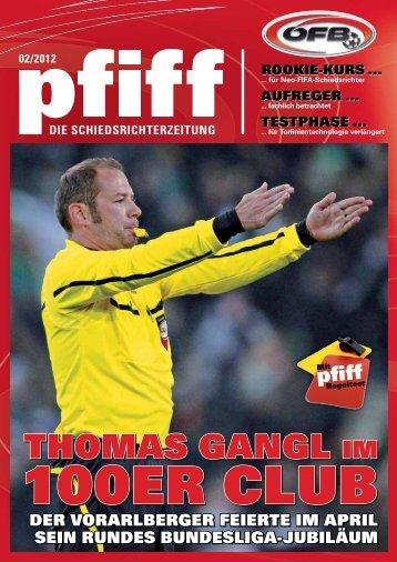 PFIFF Ausgabe Nr. 2 - 2012 - Schiri.at