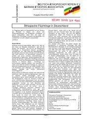 Äthiopische Flüchtlinge in Deutschland - Deutsch-Aethiopischer ...