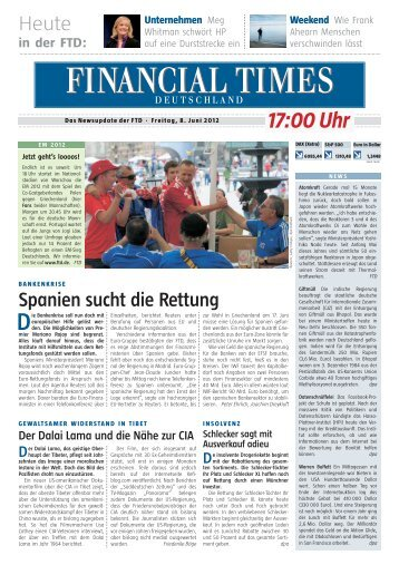 News-Update der FTD - Financial Times Deutschland