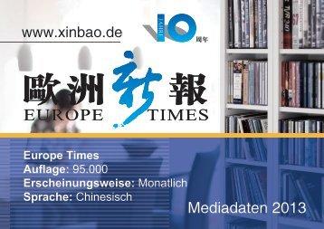 Europe Times 2013 - CAISSA Touristic