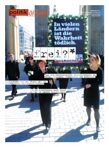 ist das erlaubt? pressefreiheit in deutschland. - Politikorange.de